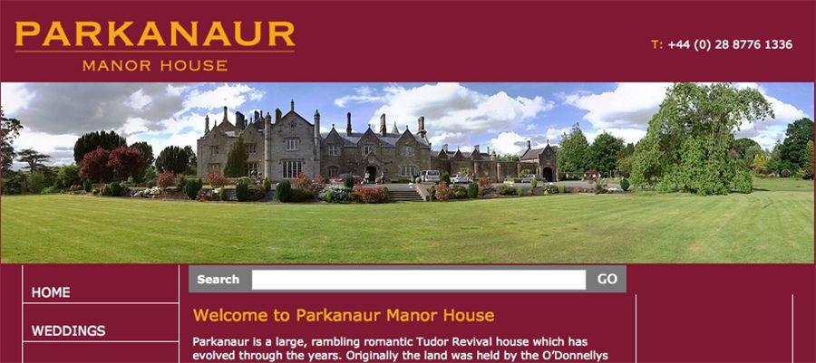 Juice Wedding Band Northern Ireland | pic of the Parkanaur Manor House Castlecaulfied website