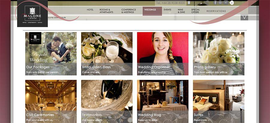 Juice Wedding Band Northern Ireland | pic of the Malone Lodge Hotel Belfast website