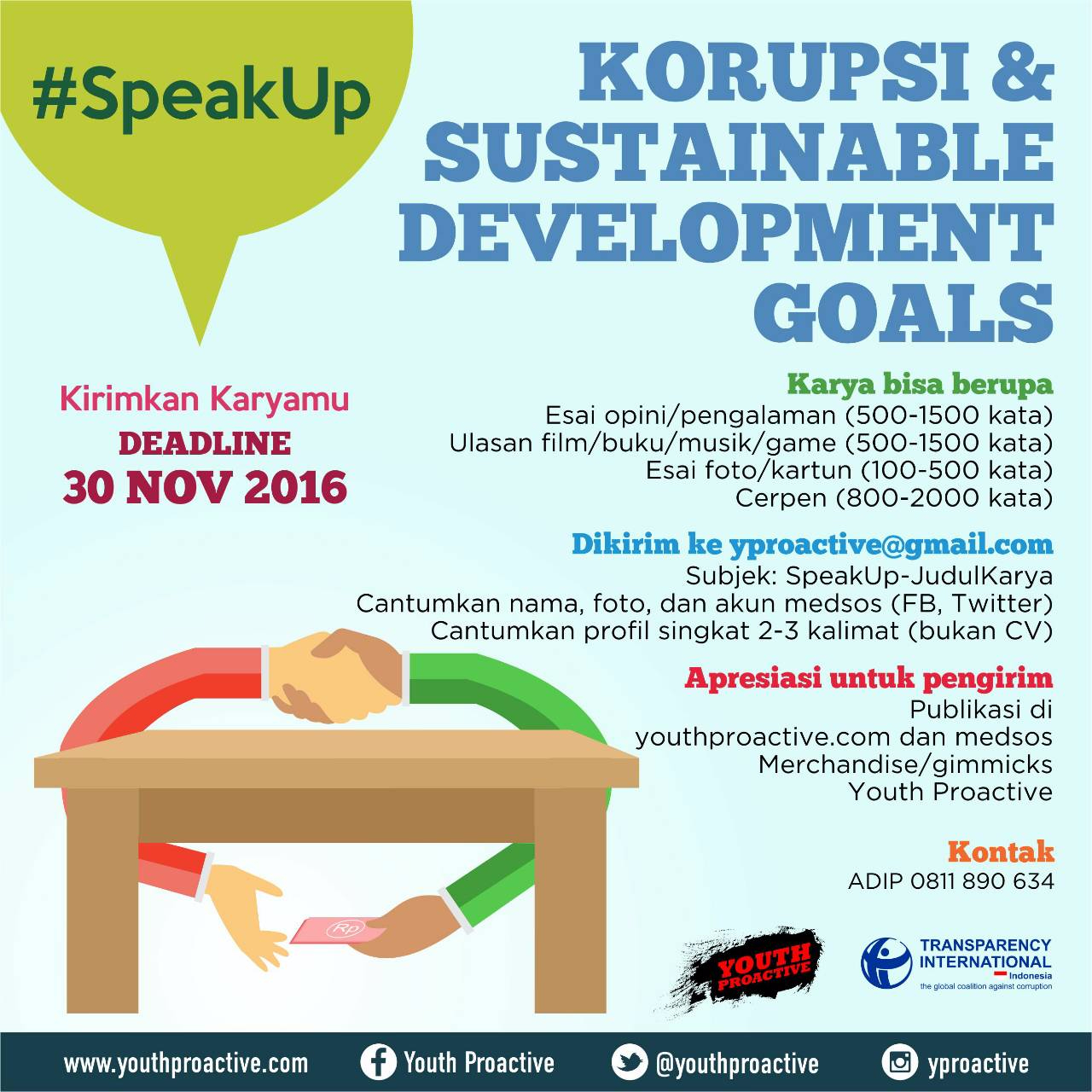 #SpeakUp: Kirimkan Karyamu!