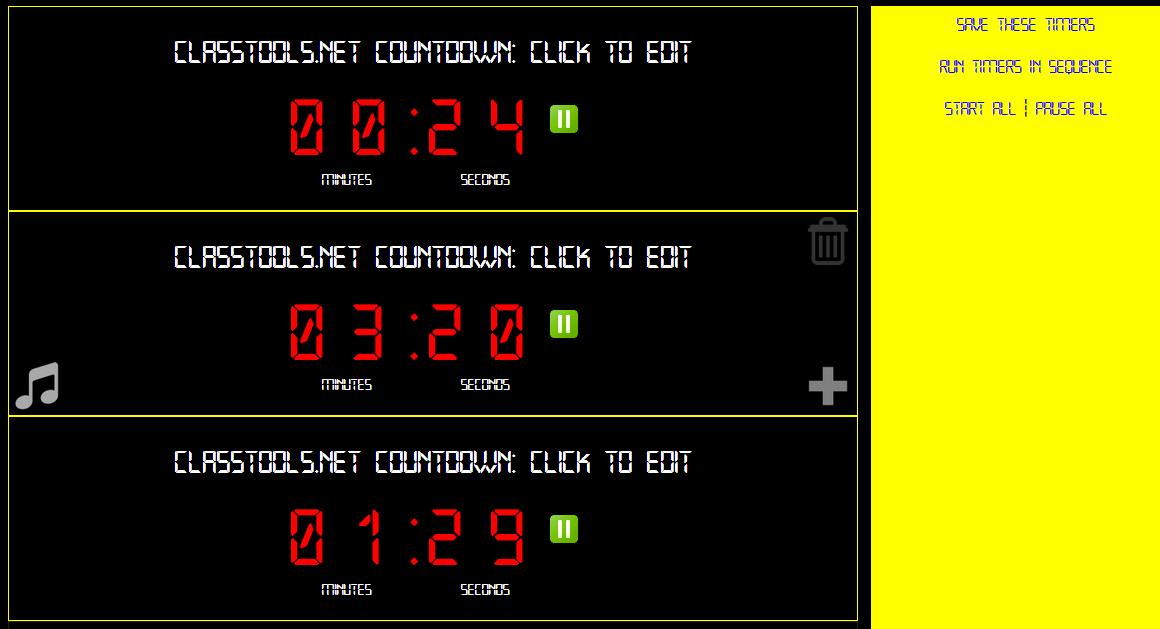 Countdown timer that plays a sound /buzzer software Anyone got a