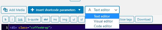 Shortcoder toolbar