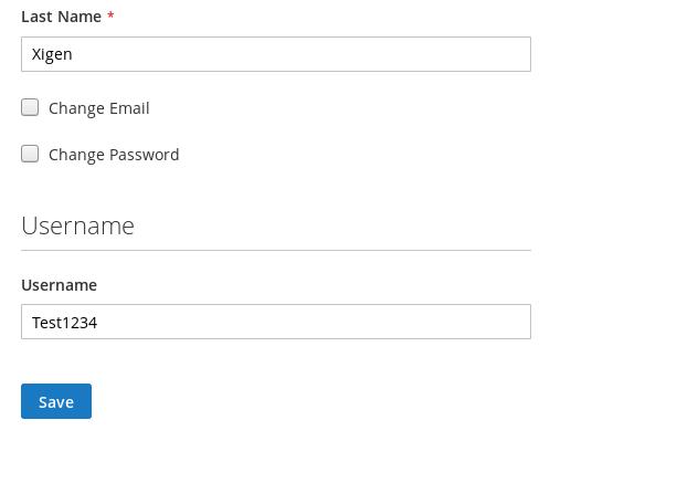 Customer Account Information Edit
