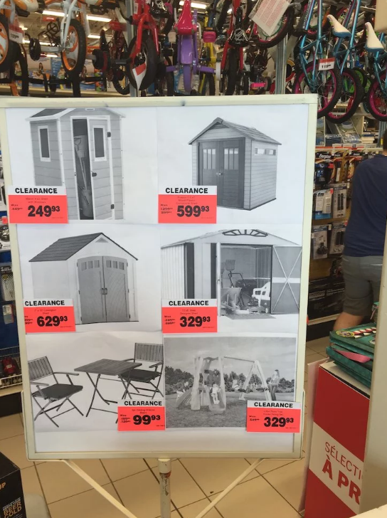 Canadian Tire Canadian Tire Sheds Clearance Ymmv Redflagdeals