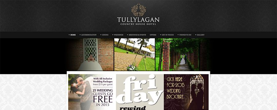 Juice Wedding Band Northern Ireland - pic of the Tullylagan Hotel Cookstown website