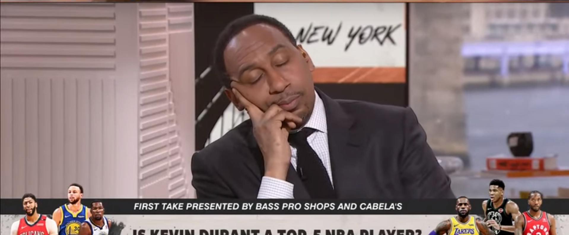 eaf1a8265012 First Take  Stephen A. Smith goes off on Max Kellerman for Durant take