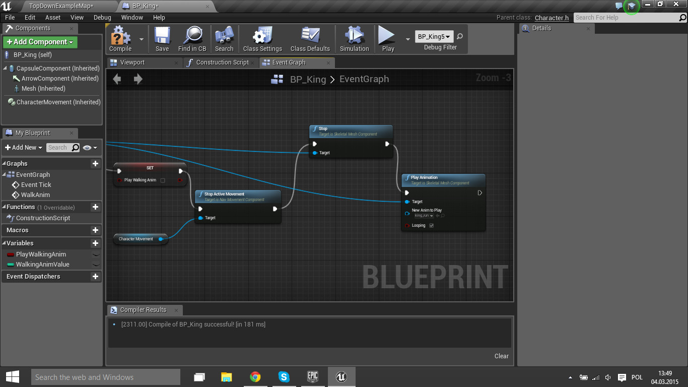How to stop current animation and play other animation ue4 answerhub this stop ok but not play new animation malvernweather Gallery