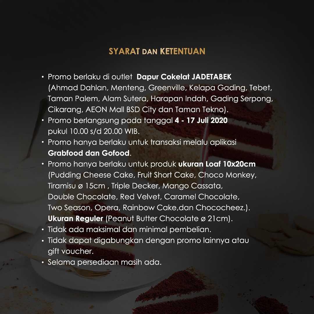 Promo diskon Promo Dapur Cokelat Diskon 25% Untuk Seluruh Loaf Cake