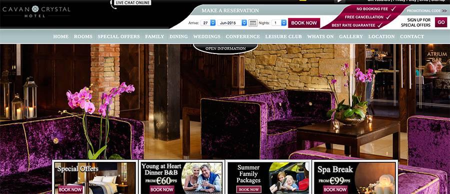Juice Wedding Band Northern ireland | pic of the Cavan Crystal Hotel website