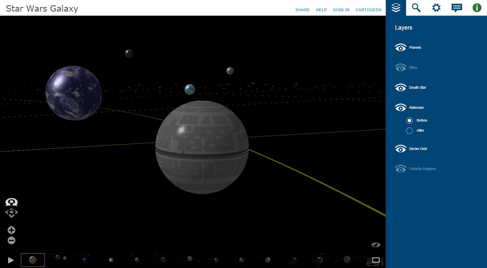 Star wars galaxy 3d map webgl for 3d star net