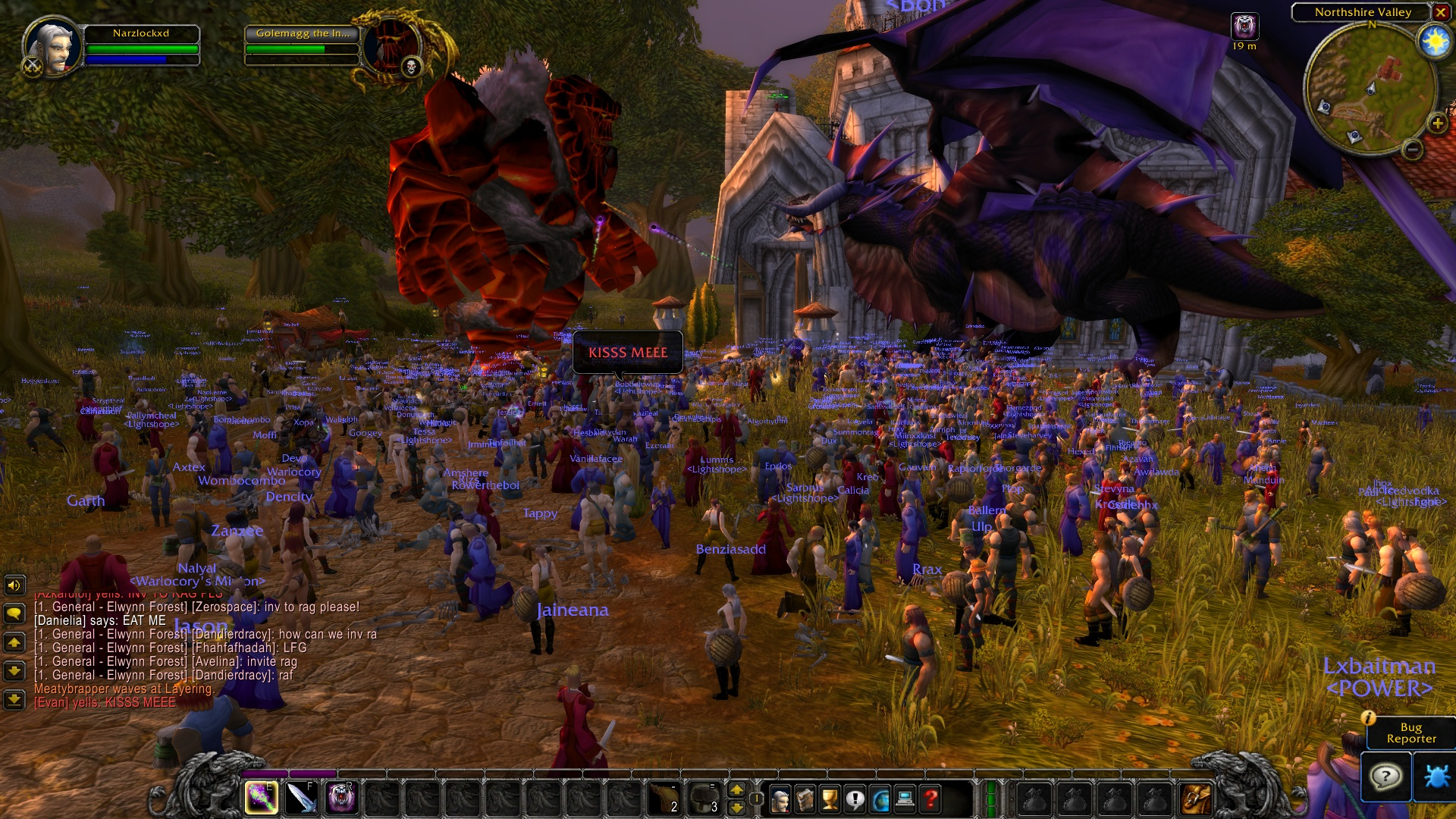Ony vs Gol (right before Rag and server restart) : classicwow