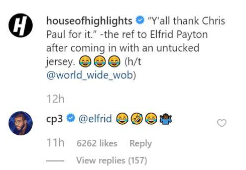 CP3 responds to refs 'y'all can thank Chris Paul' comment