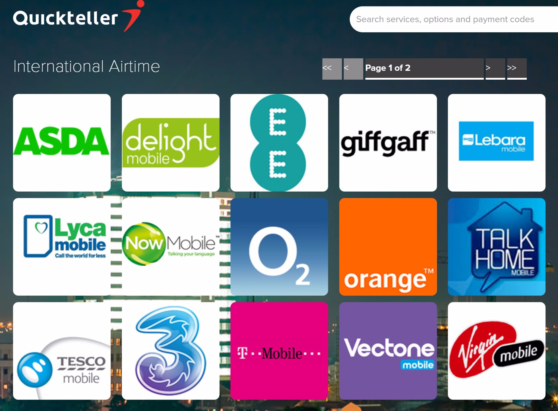 Quickteller airtime topup