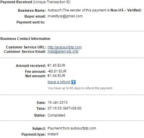 kouji's 13th payment from autosurfptp (€1.45) PeLzt