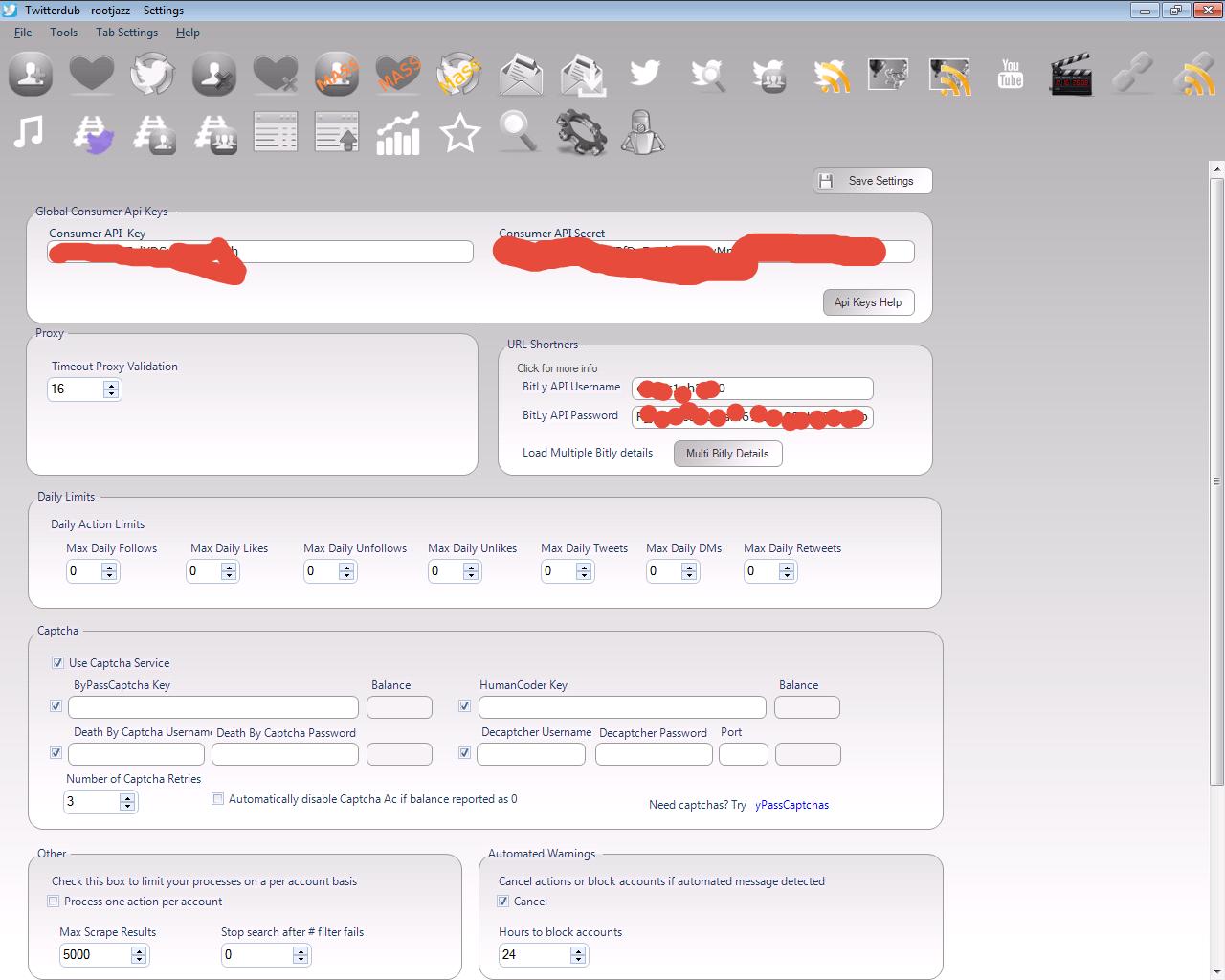 Where or how can I enter the goo gl API keys for ((googl