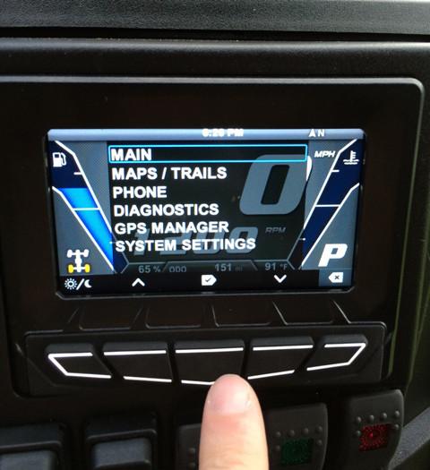 Noul ecran LCD interactiv Polaris - ecran atv