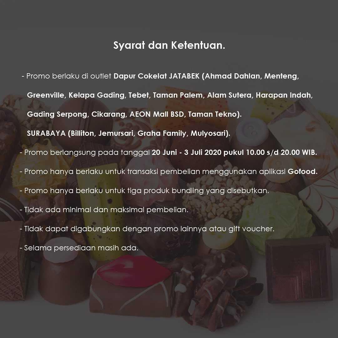 Promo diskon Promo Dapur Cokelat Paket Little Sweet Dengan Harga Mulai Dari Rp. 59.500