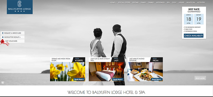 Juice Wedding Band Northern Ireland | pic of the Ballyliffin Lodge Hotel Donegal website