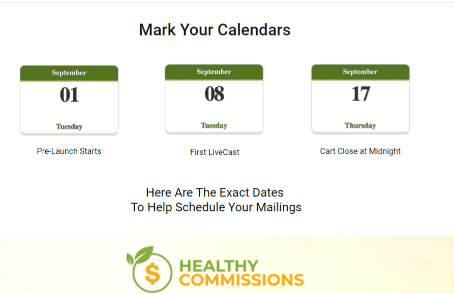 Healthy Commissions Review benefits