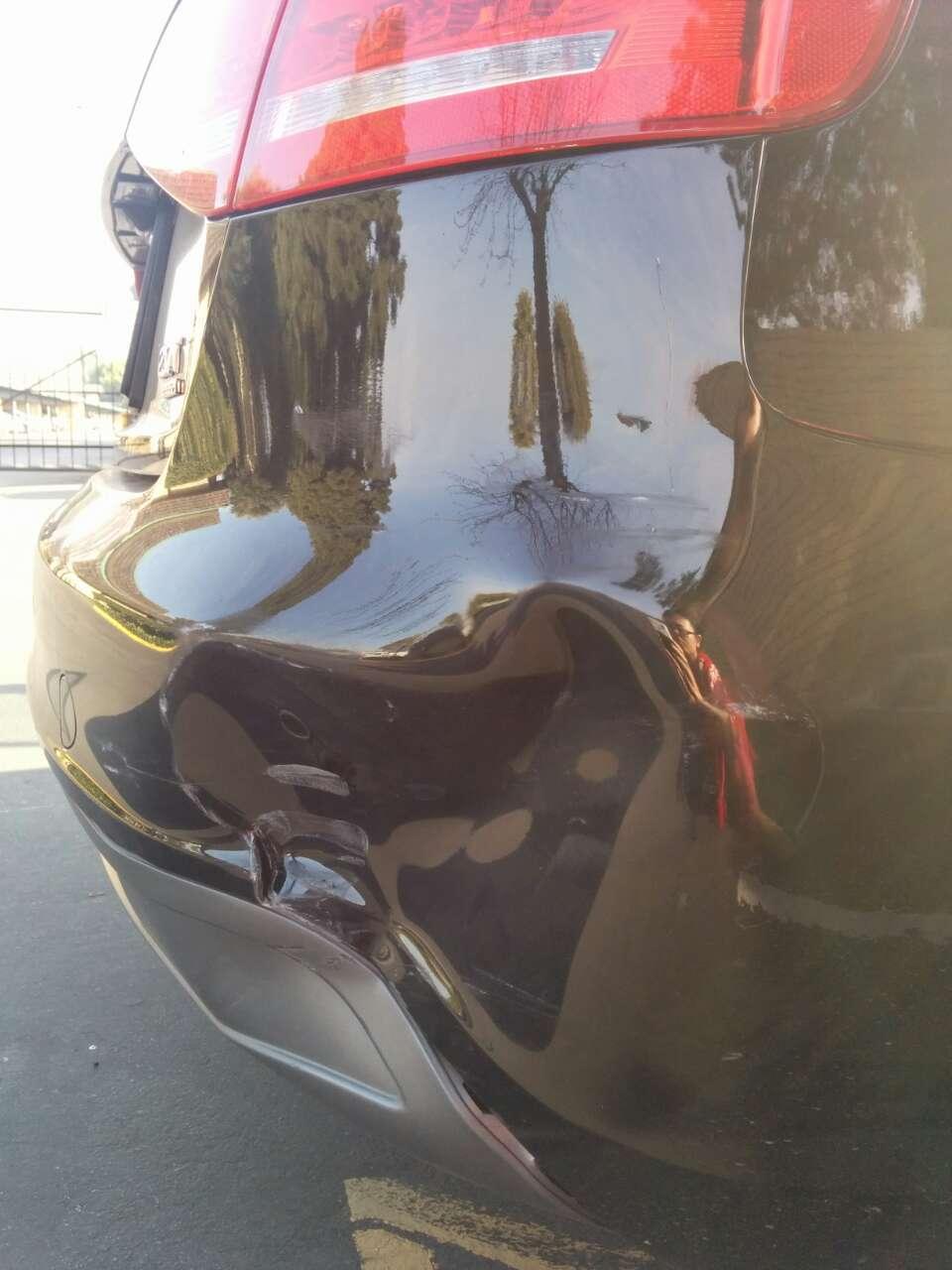 Rear bumper dent - estimate repair cost