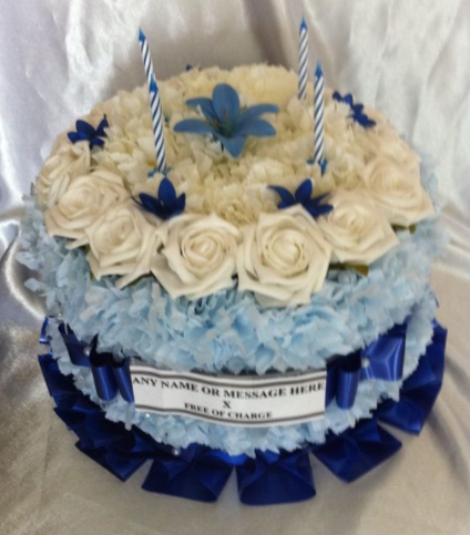 Excellent Artificial Silk Flower Birthday Cake Tribute Funeral Memorial Personalised Birthday Cards Paralily Jamesorg