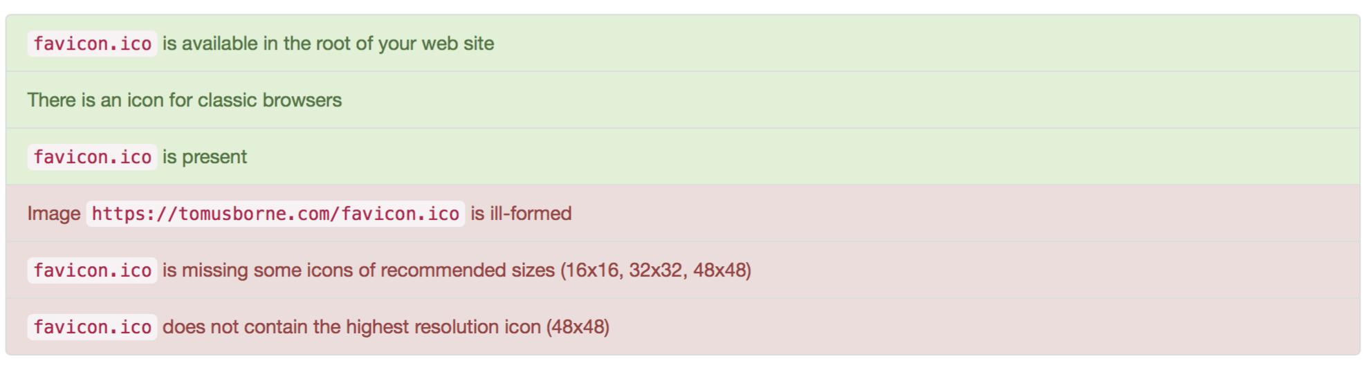 favicon.ico file not found
