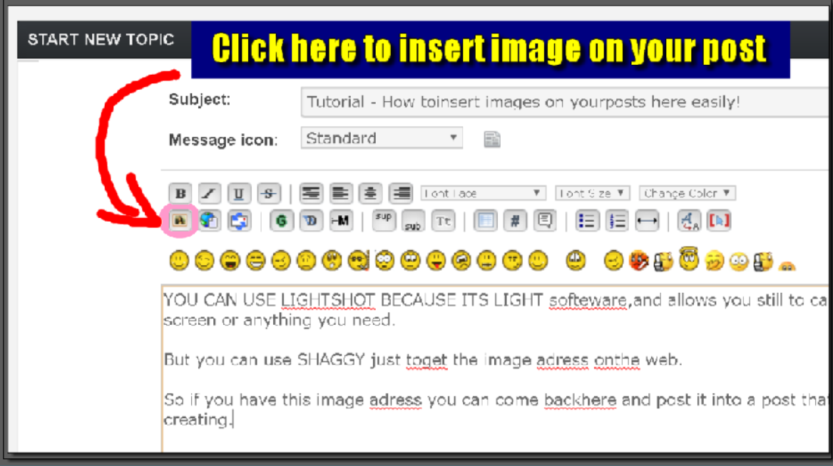 Tutorial - How to insert images in posts here easily!