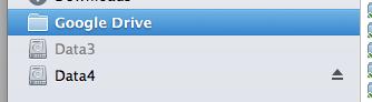 Mac Favorites section