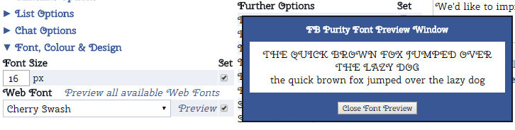 FBP's WebFont Preview Window