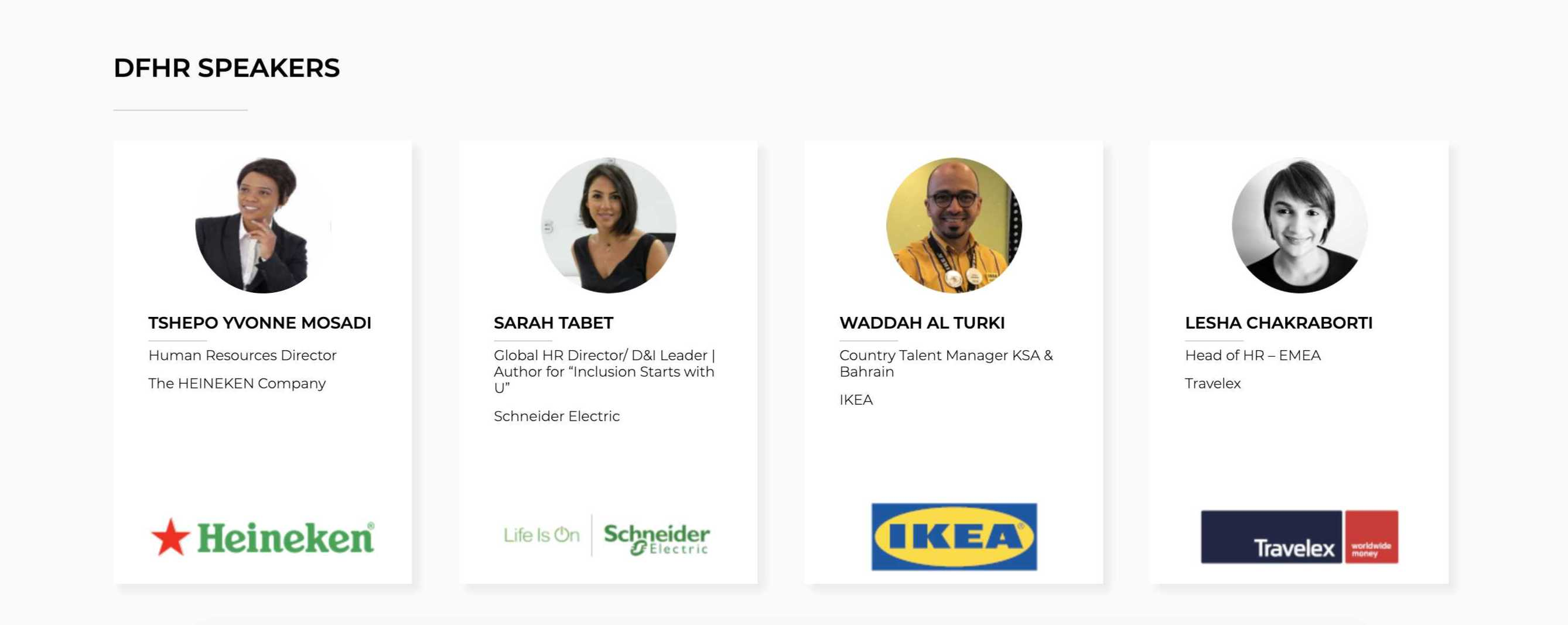 Decoding for HR speaker lineup