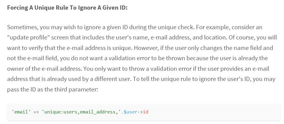 Laravel 5 Validation Request, how to handle validation on