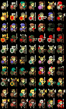 8bit expanded fantasy characters opengameartorg