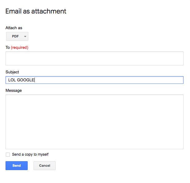 This is what you'll see to compose your Gmail + attachment email, pretty shallow